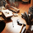 Royalty-Free Stock Photo: Goldsmith's workbench