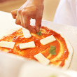 Royalty-Free Stock Photo: Chef preparing tasty pizza