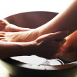 Foot massage at the spa - Stock Photo
