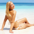 Bombshell on the beach - Stockfoto