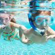 Breathing underwater - Stock Photo