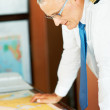 Plotting a course - Stock Photo