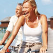 Royalty-Free Stock Photo: Cheerful mature couple having fun on holidays