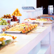 Royalty-Free Stock Photo: Variety of fancy salads and food displayed at buffet