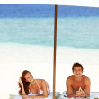 Relaxation in paradise - Foto Stock