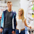 Saturday shoppers - Stock Photo
