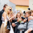 Taking time to meet my fans - Stockfoto