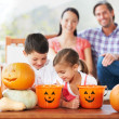 We share everything, even Halloween treats - Stock Photo