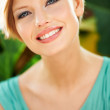 Stunning smile to compliment her perfect features - Stock Photo
