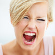 Don't make her angry! - Stock Photo