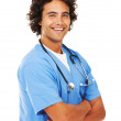 The smiling face of a modern healer - Stock Photo