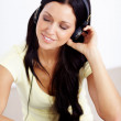 I love geting lost in my music... - Stock Photo