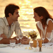 Maldivian romantic dinner - Stockfoto