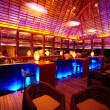 Bar with coloured lights - Foto Stock