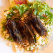 Fried cockroaches on a bed of rice - Lizenzfreies Foto