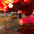 Traveling in a tuk-tuk in Thailand - Stock Photo