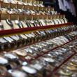 Rows of wrist watches for sale - Stock Photo