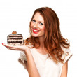 You can have your cake and eat it too - Stock Photo