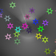 Abstract colored background with stars — Stock Photo