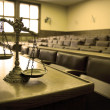 Decorative Scales of Justice in the Courtroom — Stock Photo #11129891