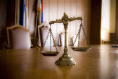 Decorative Scales of Justice — Stockfoto