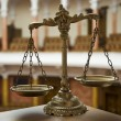 Scales of Justice in Courtroom — Stock Photo #11276890