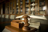 Judge's gavel — Stockfoto