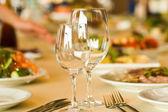 Serving in restaurant — Stock Photo