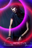 Young disk jockey — Stock Photo