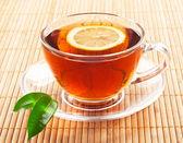 Hot black tea — Stock Photo