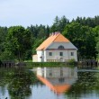 The house and pond - Stock Photo