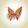 Vector butterfly and ink splats — Stock Vector #10825281