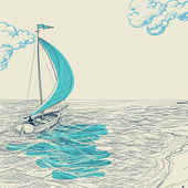 Sailing vector background — Stockvector