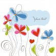 Floral background vector illustration — Stock Vector