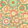 Retro flower pattern — Stock Vector #11677265
