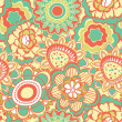 Stock Vector: Retro flower pattern