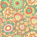 Retro flower pattern — Stock Vector