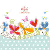 Babyshower floral — Vector de stock