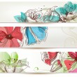 Floral banners vector — Stockvectorbeeld