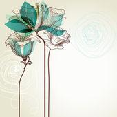 レトロな花の背景 — ストックベクタ