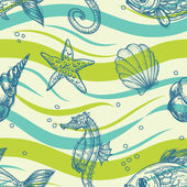 Sea vector pattern — Stock Vector