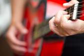 吉他演奏 — 图库照片