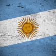Argentine vintage flag — Stock Photo