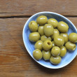 Olives plate - Stock Photo