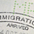 Stock Photo: Immigration stamp