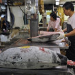 Tsukiji fish market - Stock Photo