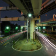 Night junction — Stock Photo