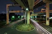 Gece kavşağı — Stok fotoğraf