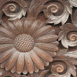 Wooden sunflower — Stock Photo