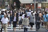 Crowded Ginza — Stock Photo